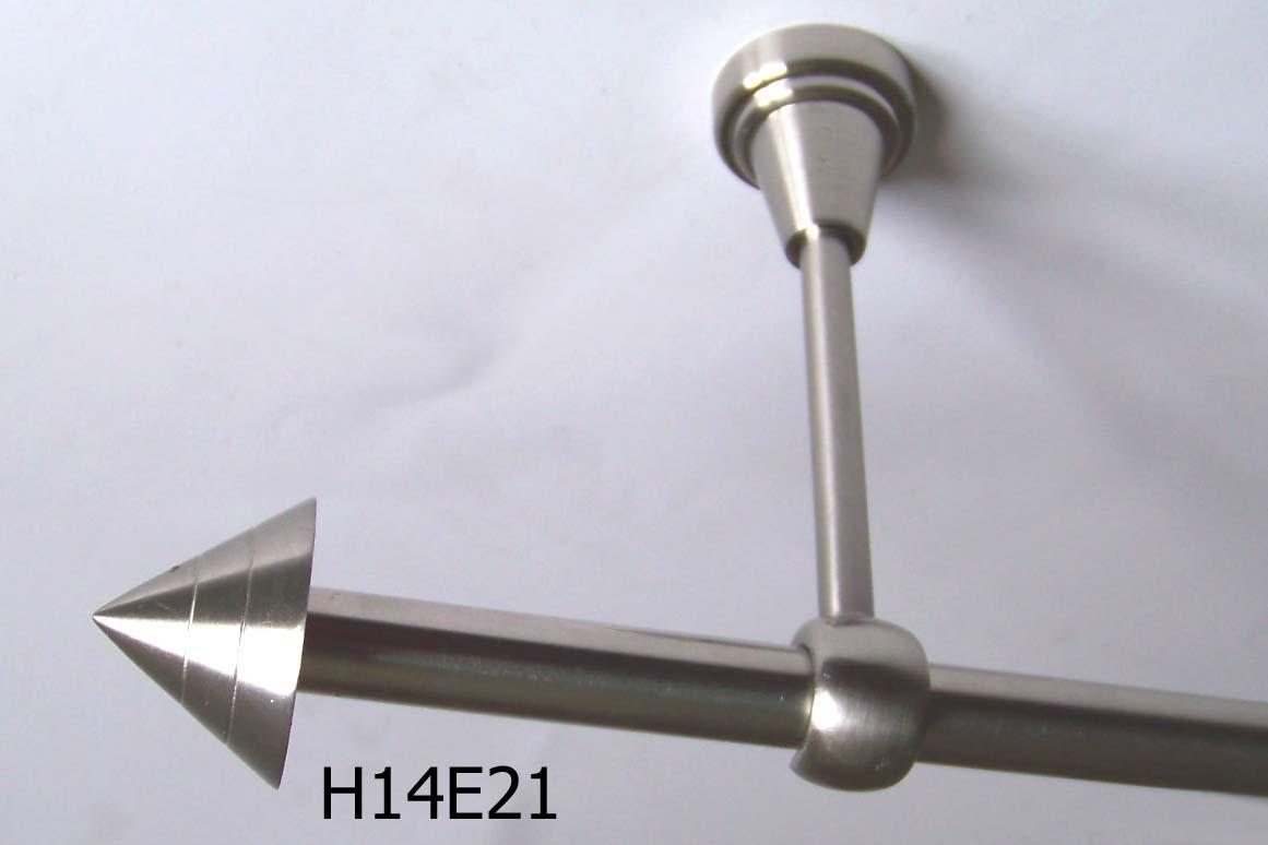 gardinenstange edelstahl look 16mm wand deckentr ger oder zusatzlauf design e21 gardinenstangen. Black Bedroom Furniture Sets. Home Design Ideas