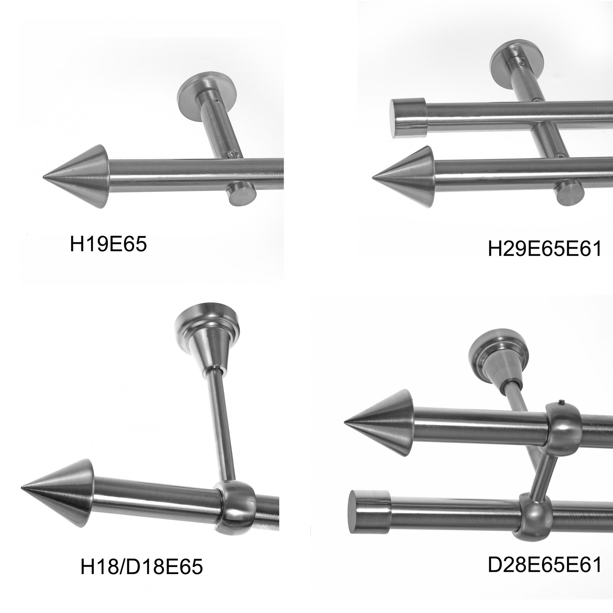 basit gardinenstange modern edelstahl look metall modern dm 19mm 1 und 2 lauf gardinenstangen 19. Black Bedroom Furniture Sets. Home Design Ideas