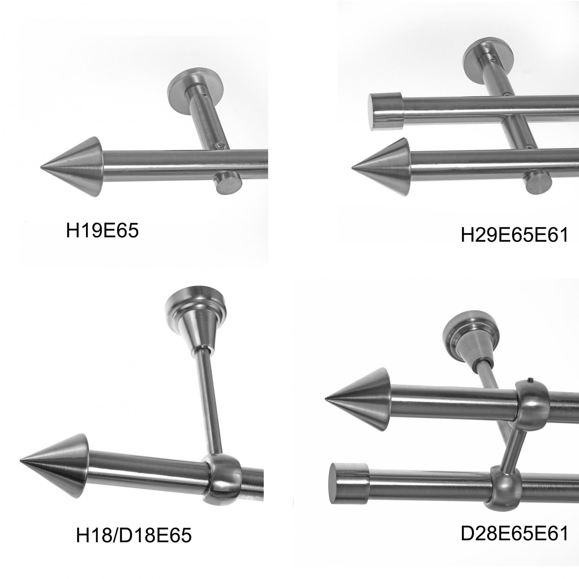 basit gardinenstange modern edelstahl look metall modern. Black Bedroom Furniture Sets. Home Design Ideas