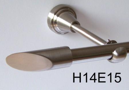 gardinenstange edelstahl rohr va 16mm wand deckentr ger o zusatz treffurt. Black Bedroom Furniture Sets. Home Design Ideas